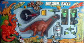 airgamboys 00298 - 2 alien simios con robot y diplodocus