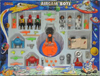 airgamboys 37604 - 3 astronautas + 3 red planet + rover lunar + cañon