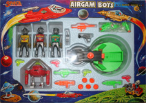 airgamboys 39302 - 3 aliens Space Adventurer con robot y cañon lanzadiscos